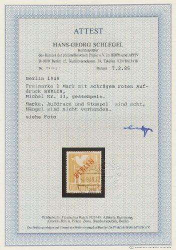 33 Freimarken Geprüft Ing Becker Siehe Bilder Berlin 1949 Postfrisch Minr
